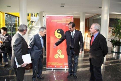 Imaxes José Luis Meilán Gil. Catedrático en Dereito Administrativo. Primeira parte. - Xornadas sobre autonomías en España e China: Galicia como exemplo